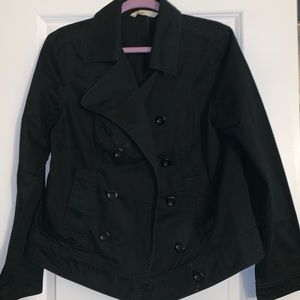 Black Old Navy Double-Breasted Pea Coat